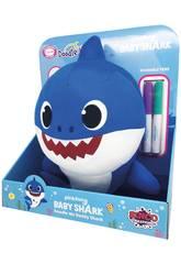 Pl¨schtier Baby Shark Kritzele Mich 30 cm von Famosa 760018529