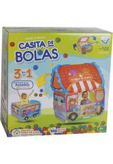 Maison en Tissu Bus avec 100 Balles 6 cm.