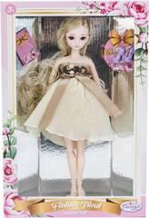 Bambola Stile Giappone 29 cm. Gonna Beige