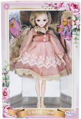 Poupée Style Japonais 29 cm. Robe Rose