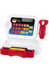 Caisse Enregistreuse Rouge avec Calculatrice et des Accessoires