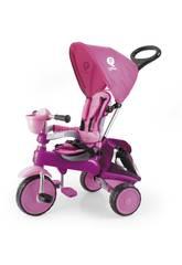 Triciclo Ranger 3 en 1 Rosa con Capota QPlay T121
