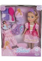 Poupée Princesse Elsie 40 cm. avec Robe et des Accessoires