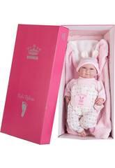 Muñeco Mi Pequeño Reborn Pelón 45 cm. Rosa Orejitas Berbesa 4554