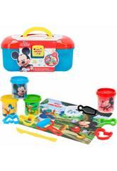 Mickey Knetkoffer mit Formen und Werkzeugen Colorbaby 77180