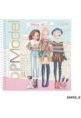 TopModel carnet de notes autocollant Dress Me 10452
