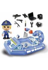 Pinypon Action Barca della Polizia con Figura Famosa 700015588