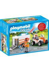 Playmobil Quad di Salvataggio con Rimorchio 70053