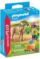 Playmobil Menina com Pónei 70060