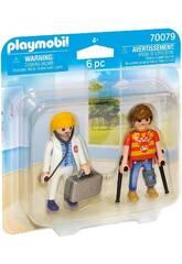 Playmobil Duopack Dottoressa e Paziente 70079