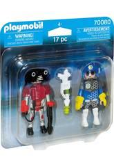 Playmobil Duopack Policía del Espacio y Ladrón 70080