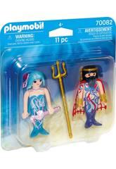 Playmobil Duopack Roi de la Mer et Sirène 70082
