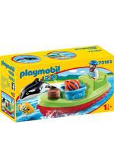 Playmobil 1,2,3 Pescador con Bote Playmobil 70183