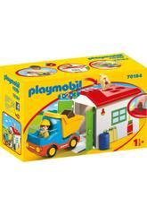 Playmobil 1,2,3 Camion avec Garage Playmobil 70184