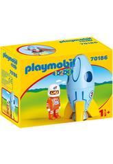 Playmobil 1,2,3 Astronaut mit Rakete von Playmobil 70186
