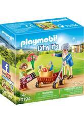 Playmobil Abuela con Niña 70194
