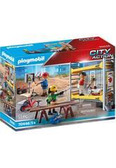 Playmobil Ouvriers avec Échafaudage 70446