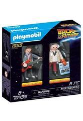 Playmobil Retopur Vers Le Futur Marty McFly et Dr. Emmett Brown 70459