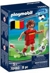 Playmobil Joueur de Football Belgique 70483