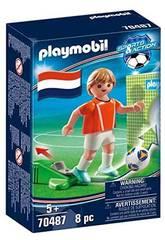 Playmobil Jogador de Futebol Países Baixos 70487