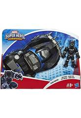 Avengers Super Hero Adventures Black Panther con Road Racer Hasbro E6256