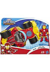 Avengers Super Hero Adventures Iron Man con Bólido Hasbro E6257