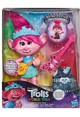 Trolls World Tour Muñeca Poppy Rock Hasbro E9411
