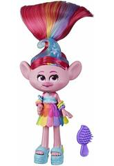 Trolls World Tour Muñeca Poppy Glamour Rock