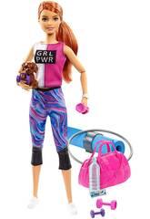 Barbie Wellness Turnhalle mit Welpe und Accesoires von Mattel GJG57