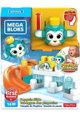 Mega Bloks Pinguim Lança e Roda De Peek a Block Mattel GKX67