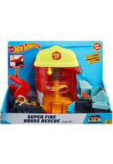Hot Wheels City Súper Posto de Bombeiros de Resgate Mattel GJL06