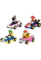 Hot Wheels Pack 4 Veicoli Mario Kart Mattel GLN53