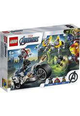 Lego Super Heroes Avengers Attacco in Moto 76142