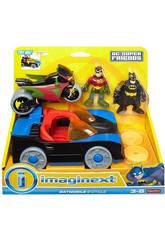 Imaginext Batmobile e Moto DC Superfriends Mattel CGL38