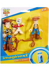 Imaginext Toy Story Figurines Woody et Forky Mattel GBG90