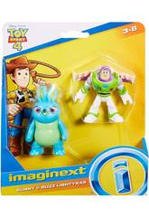 Imaginext Toy Story Figurines Buzz Lightyear et Bunny Mattel GBG91