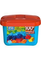 Mega Bloks Cubo Azul 100 Piezas Mattel GJD21
