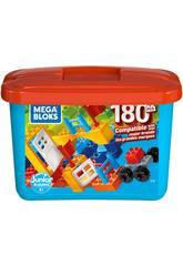 Mega Bloks Cubo Blu 180 Pezzi Mattel GJD22
