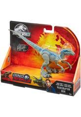 Jurassic World Vélociraptor Blue Attaque Sauvage Mattel GCR55