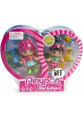 Pin y Pon Best Friends 2 Cabelo Cor-de-rosa e Cabelo Preto Famosa 700015572
