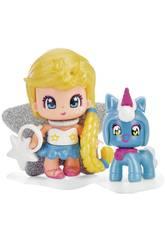 Pinypon Stella e Cucciolo Blu Famosa 700015732