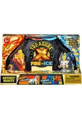 Treasure X Série 4 Bêtes Feu Vs Glace Famosa 700015741