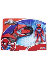 Marvel Super Hero Mega Mini Motorcycle Spiderman Hasbro E7929