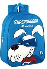 Mochila Guardería Supergrrrrr Marvelous Azul Montichelvo 57043