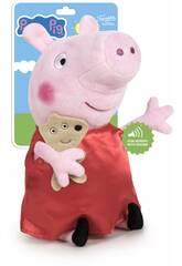 Peluche Peppa Pig 27 cm. con Suoni Famosa 760018704