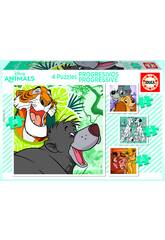 Puzzle Progresivos 12-16-20-25 Disney Animals Educa 18628
