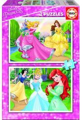 Puzzle 2X20 Princesses Disney Educa 16846