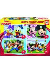 Puzzle Multi 4 Junior Mickey & Friends 20-40-60-80 Educa 18627
