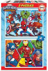 Puzzle 2x20 Marvel Super Heroe Adventures Educa 18648