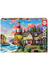 Puzzle 3000 Phare Près De l'Océan Educa 18507